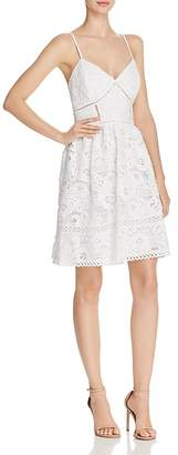 Aqua Rose Lace Fit-and-Flare Dress - 100% Exclusive