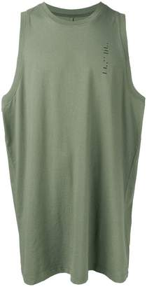 Unravel Project oversized logo tank top