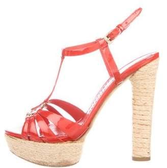 Christian Dior Patent Leather Platform Sandals