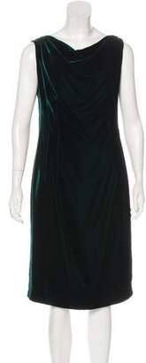 Alexander McQueen Sleeveless Velvet Dress