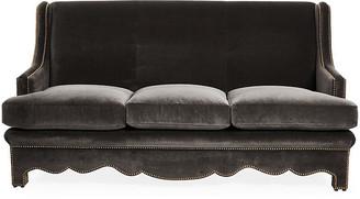Bunny Williams Home Nailhead Sofa - Gray Velvet