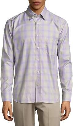 Robert Talbott Men's Casual Checked Long-Sleeve Sportshirt