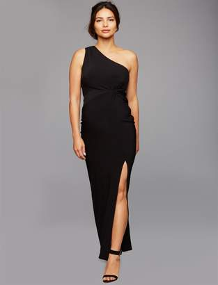 Laundry by Shelli Segal Pea Collection One Shoulder Maternity Gown