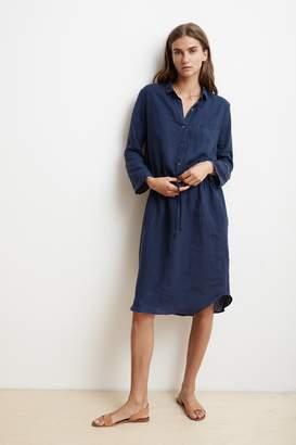 Velvet by Graham & Spencer TRISTANA WOVEN LINEN SHIRT DRESS