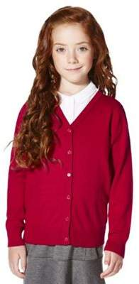 F&F School School Girls Ribbed Cardigan With As New Technology 9-10 years