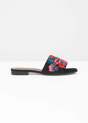 And other stories Embellished Slip On Sandals