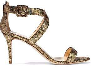 Giuseppe Zanotti Design Iridescent Stingray-Effect Leather Sandals