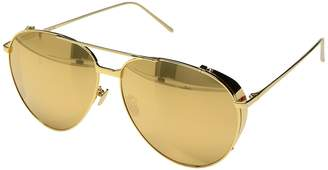 Linda Farrow Luxe LFL425C1SUN Aviators Fashion Sunglasses