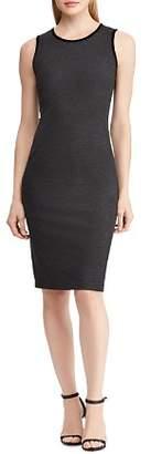 Ralph Lauren Velvet Trim Sheath Dress
