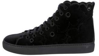 Simone Rocha Floral High-Top Sneakers w/ Tags