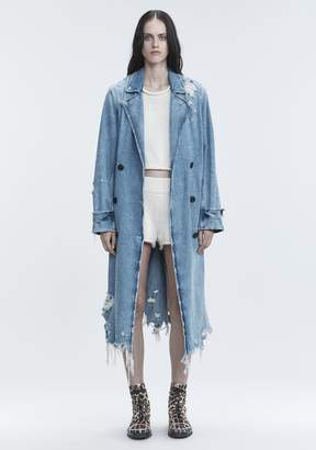 Alexander Wang DENIM TRENCH COAT DENIM