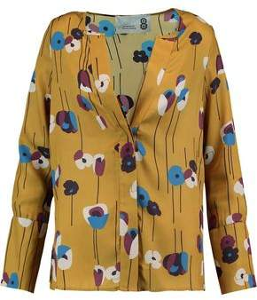 8 Printed Twill Blouse