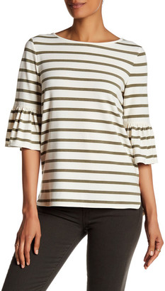 Max Studio Striped Bell Sleeve Tee $88 thestylecure.com