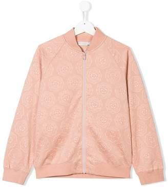 Stella McCartney TEEN floral patterned bomber jacket