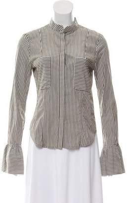 Frame Stripe Button-Up Top
