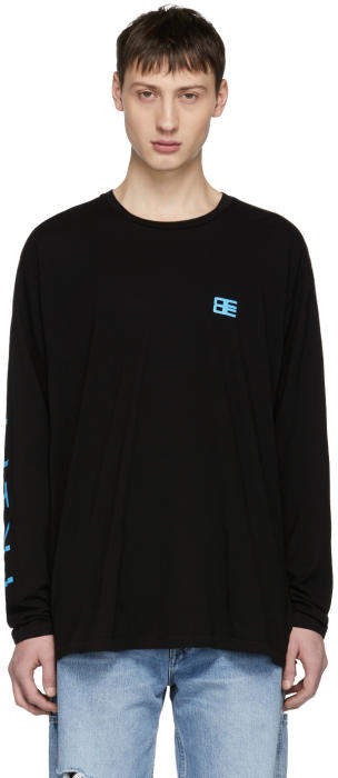 Baja East Black Long Sleeve Trippin T-Shirt
