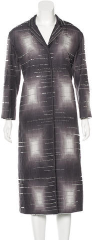 prada Prada Embellished Abstract Pattern Coat