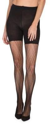 Spanx Plaid Lace Mid-Thigh Shaping Tights
