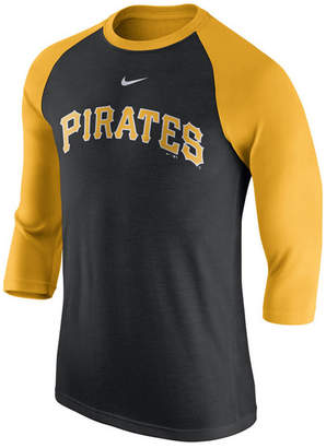 Nike Men's Pittsburgh Pirates Wordmark Raglan T-Shirt