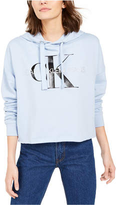 Calvin Klein Jeans Cropped Logo Hoodie