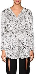 BLINDNESS Women's Dalmatian-Print Silk Blouse - White
