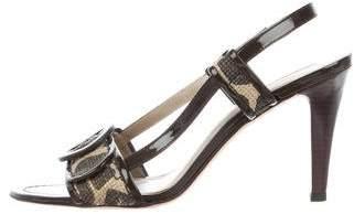 Via Spiga Woven Slingback Sandals