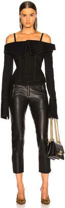 Marques Almeida Marques ' Almeida Off Shoulder Jacket in Black | FWRD