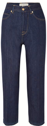 Golden Goose Komo Cropped High-rise Straight-leg Jeans - Dark denim
