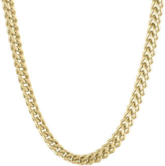 JCPenney FINE JEWELRY Mens Stainless Steel & Gold-Tone IP 24 6mm Foxtail Chain