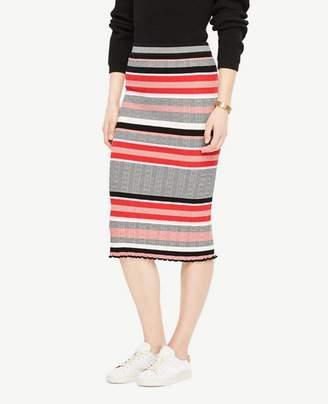 Ann Taylor Striped Sweater Pencil Skirt