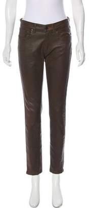 Ralph Lauren Black Label Mid-Rise Coated Jeans