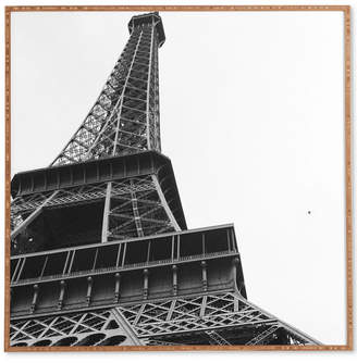 Deny Designs Khristian A Howell La Tour Eiffel Bamboo-Framed Wall Art