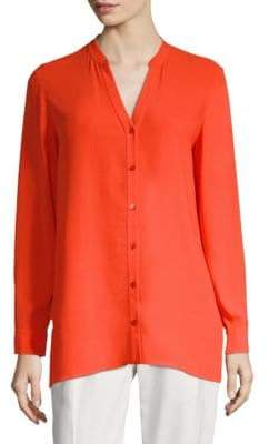 Eileen Fisher Silk V-Neck Blouse