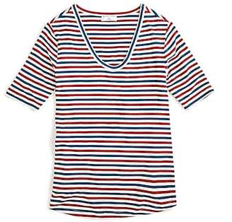 J.Crew Universal Standard for jersey V-neck T-shirt in stripe