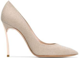 Casadei pointed toe glitter pumps