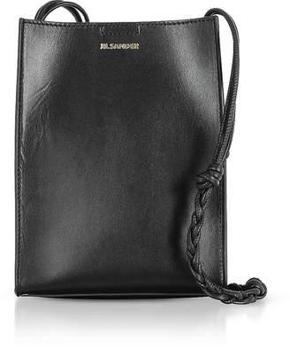 Jil Sander Black Leather Small Tote Bag