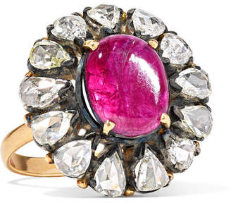 Amrapali 18-karat Gold, Diamond And Ruby Ring