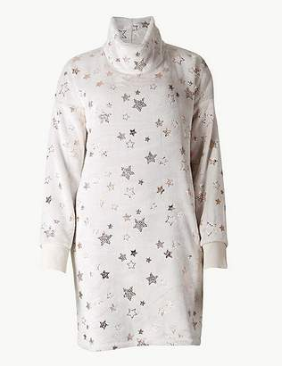 Marks and Spencer Star Print Long Sleeve Lounge Dress