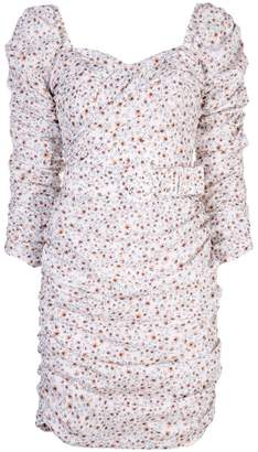 Nicholas floral print fitted dress