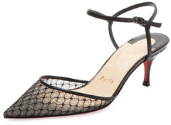 Christian Louboutin  Lace Pointed-Toe Pump