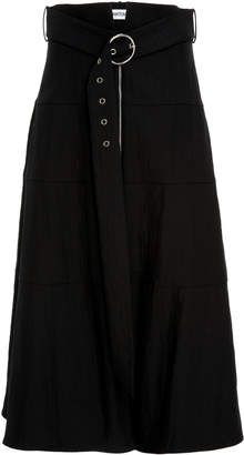 Partow Amira High-Waisted Belted Skirt