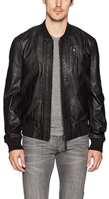 Blank NYC [BLANKNYC] Men's Grinder Leather Bomber Outerwear