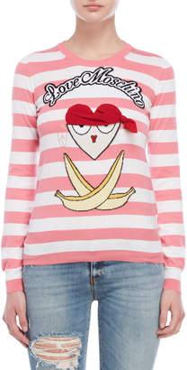 Love Moschino Striped Graphic Sweater