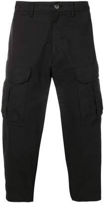 Stone Island Shadow Project cropped cargo trousers
