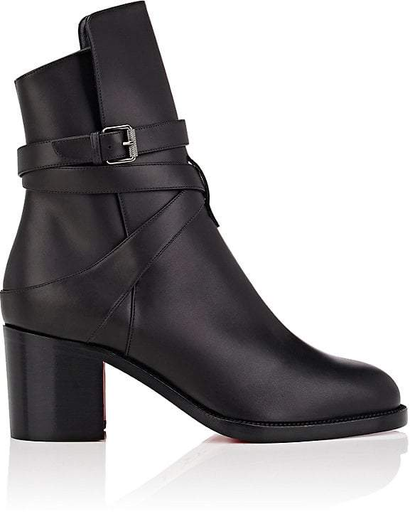 Christian Louboutin Women's Karistrap Leather Ankle Boots