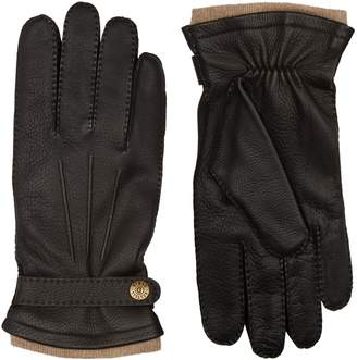 Dents Leather and Cashmere Gloves