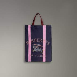 Burberry Medium Archive Logo Jersey Shopper, Blue