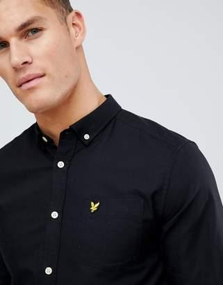 Lyle & Scott buttondown shirt in black