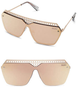 Quay Oversized 138MM Mirrored Square Cutout Sunglasses