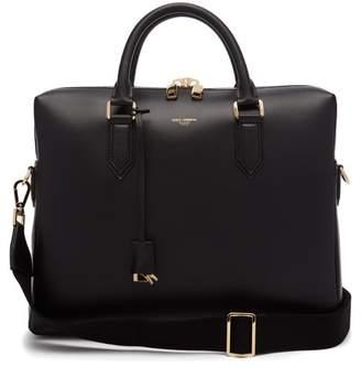 Dolce & Gabbana Leather Briefcase - Mens - Black